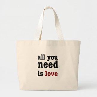 all you need is love large tote bag