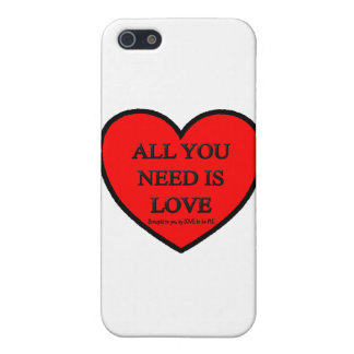 ALL YOU NEED IS LOVE - LOVE TO BE ME COVER FOR iPhone 5
