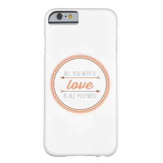 All you need is love   mango and copper barely there iPhone 6 case