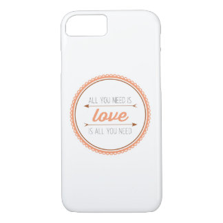 All you need is love | mango and copper iPhone 8/7 case