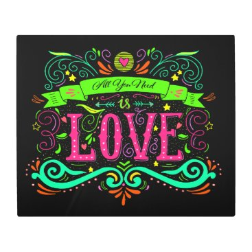 Professional Business All You Need is Love Metal Wall Art