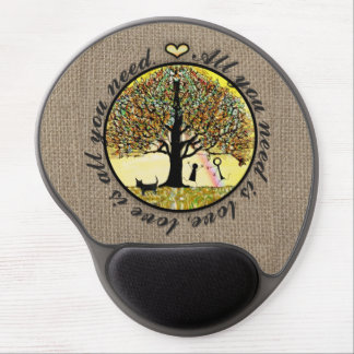 All You Need is Love on Burlap Gel Mouse Pads