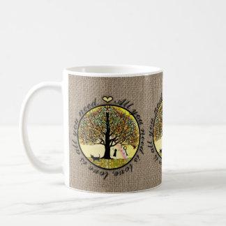 All You Need is Love on Burlap Mug
