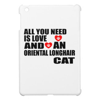 ALL YOU NEED IS LOVE ORIENTAL LONGHAIR CAT DESIGNS iPad MINI COVERS