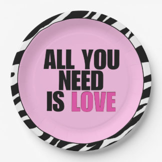 """ALL YOU NEED IS LOVE"" PAPER PLATE"