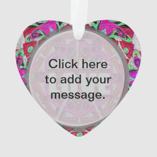 All You Need is Love Pattern with Peace Symbol Ornament