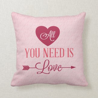 All you need is love pillow