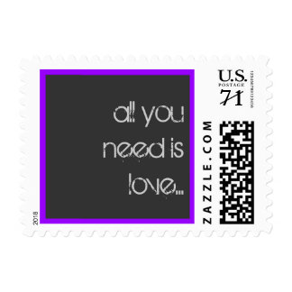 all you need is love... postage