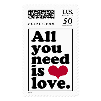 ALL YOU NEED IS LOVE ♥ POSTAGE