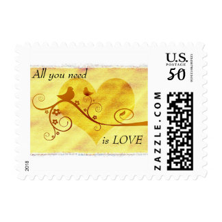 All You Need Is Love Postage Stamp