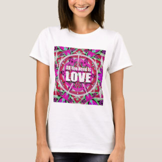 All you need is love print. T-Shirt