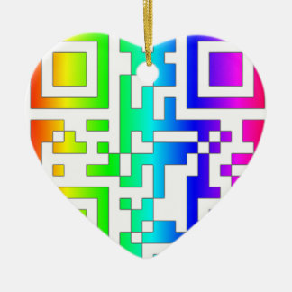 ALL YOU NEED IS LOVE - qr Ceramic Ornament