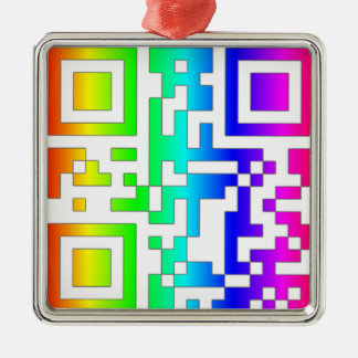 ALL YOU NEED IS LOVE - qr Metal Ornament