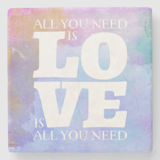 All You Need is Love Quote Coaster