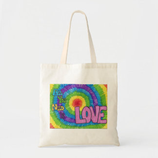 All You Need Is Love Rainbow Design Tote Tote Bag