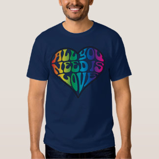 All You Need Is Love - Rainbow Letters Tshirt