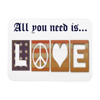 All you need is Love Rectangular Photo Magnet