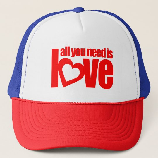 all you need is love red hat / cap