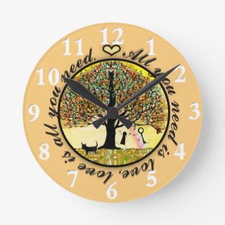 All You Need is Love Round Clock