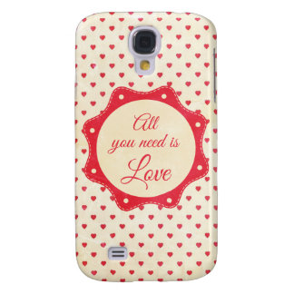 All you need is love samsung galaxy s4 cover