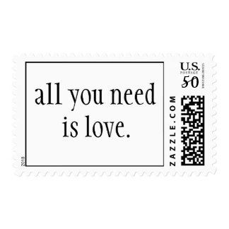 all you need is love. Stamp