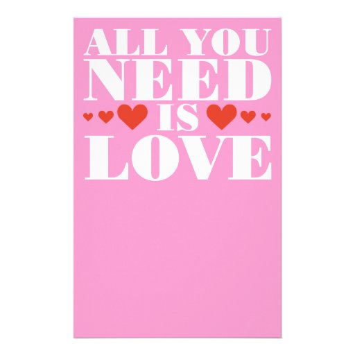 All You Need is Love Stationery
