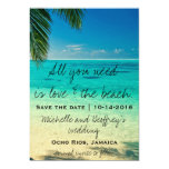 All You Need Is Love & The Beach Save the Date 5x7 Paper Invitation Card