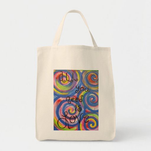 'All You Need is Love' Tote Canvas Bags