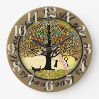 All you need is love tree of life large clock