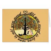 All you need is love tree of life with rainbow. card (<em>$3.15</em>)