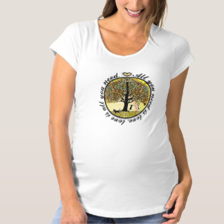 All You Need is Love Tree of Life with Rainbow Maternity T-Shirt