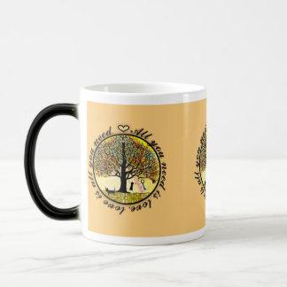 All you need is love tree of life with rainbow. coffee mug