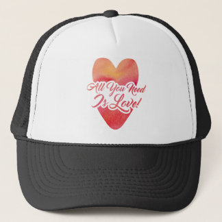 all-you-need-is-love trucker hat