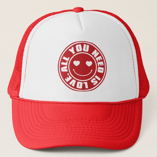 ALL YOU NEED IS LOVE. TRUCKER HAT