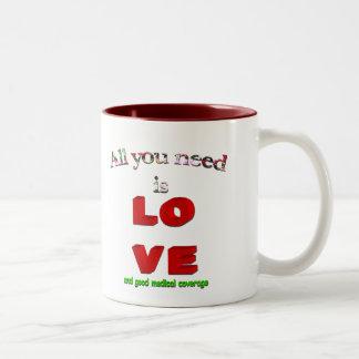 All You Need Is Love... Two-Tone Coffee Mug