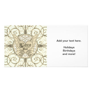 All You Need is Love with Angel Wings & Heart Card