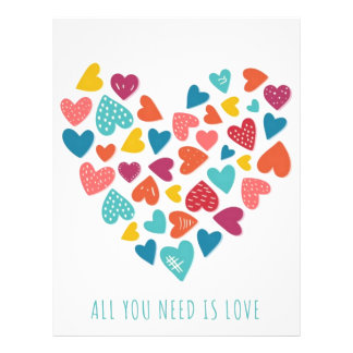 all you need IS love You only needs love Letterhead