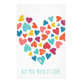 all you need IS love You only needs love Stationery