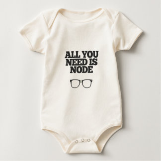 All You Need Is Node Nerd Typography Baby Bodysuit
