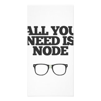 All You Need Is Node Nerd Typography Card