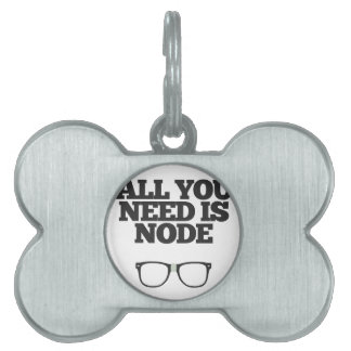 All You Need Is Node Nerd Typography Pet Tag