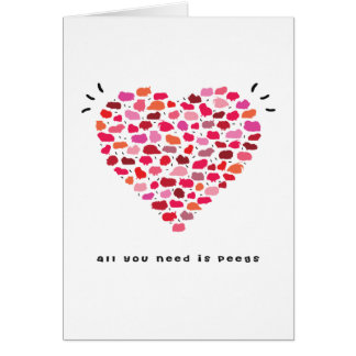 All you need is peegs greeting cards