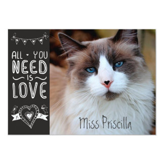 All You Need is Pet Love 5x7 Paper Invitation Card