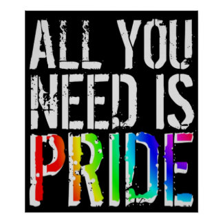 All you Need is Pride Poster