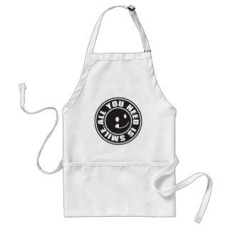 ALL YOU NEED IS SMILE. ADULT APRON
