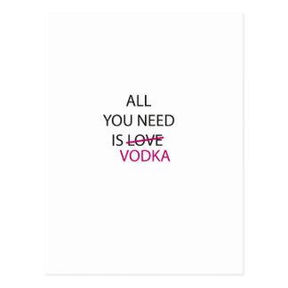 all you need is vodka.ai postcard