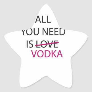all you need is vodka.ai star sticker