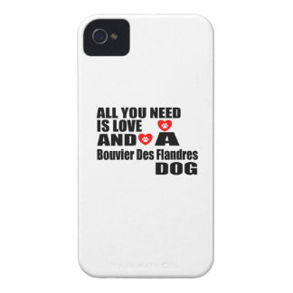 All You Need Love Bouvier Des Flandres Dogs Design Case-Mate iPhone 4 Case