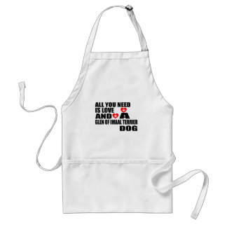 All You Need Love GLEN OF IMAAL TERRIER Dogs Desig Adult Apron