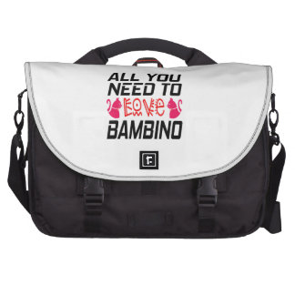 All You Need To Love Bambino Cat Laptop Messenger Bag
